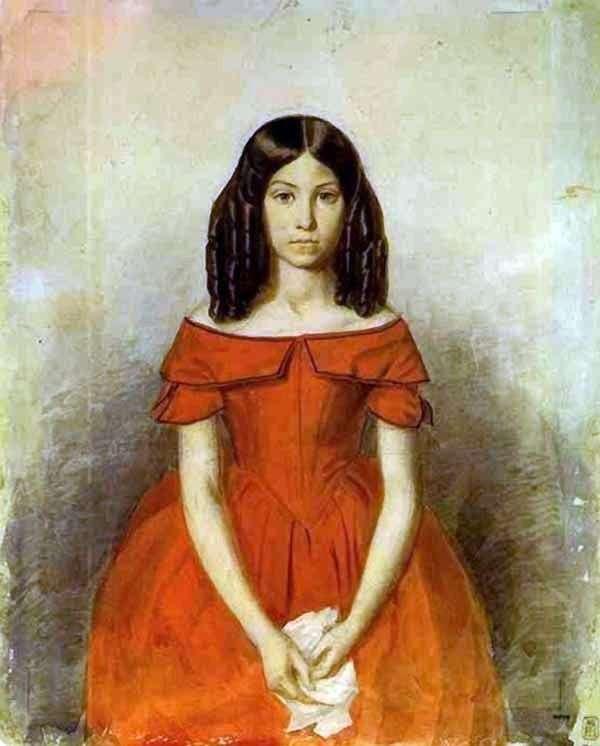 Portret N. P. Zhdanowicza w dzieciństwie   Pavel Fedotov