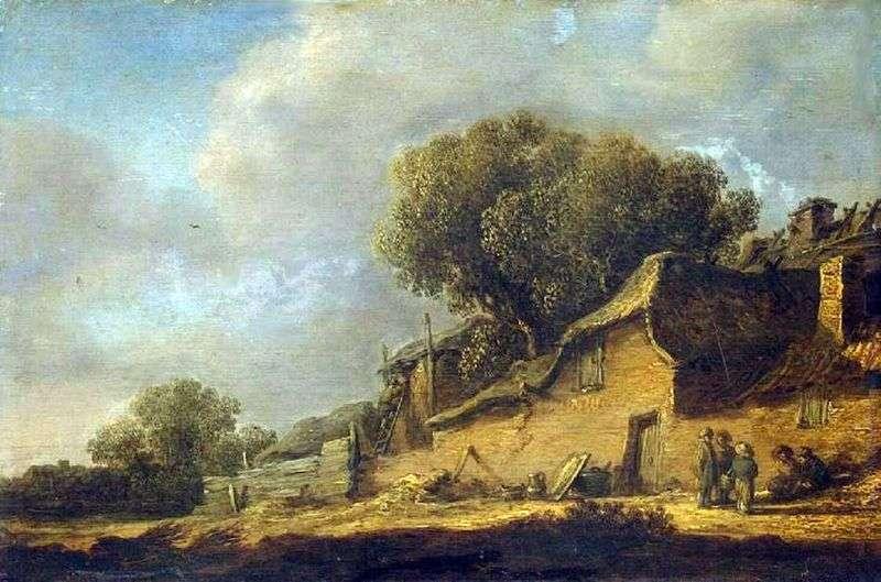 Krajobraz z chłopską chatą   Jan van Goyen