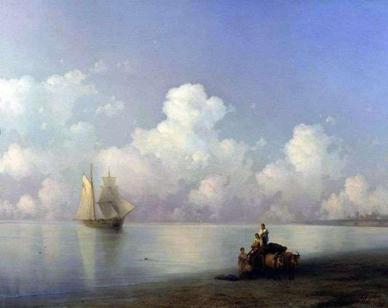 Wieczór na morzu   Iwan Ajwazowski