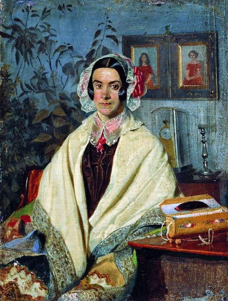 Portret Olgi Petrovna Zhdanovich, z domu Chernysheva   Pavel Fedotov