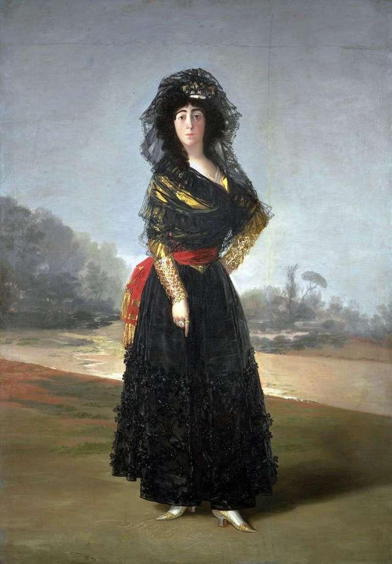 Duchess Alba in Black   Francisco de Goya
