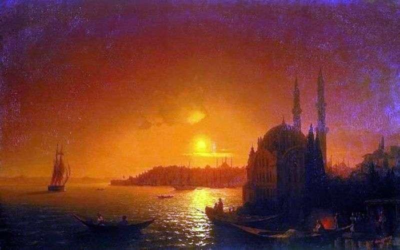 Widok Konstantynopola w świetle księżyca   Iwan Ajwazowski