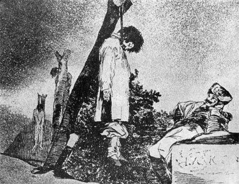 Ryciny Caprichos (kaprysy) Horrory wojny   Francisco de Goya