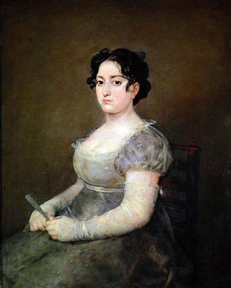 Kobieta z fanem   Francisco de Goya