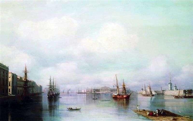 Widok z Petersburga   Iwan Ajwazowski