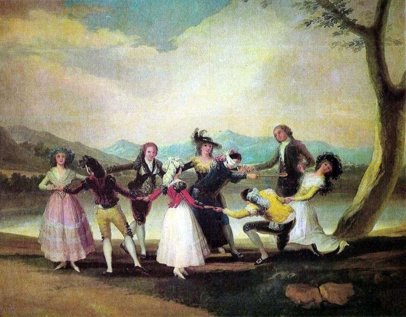 Hidden mans buff   Francisco de Goya