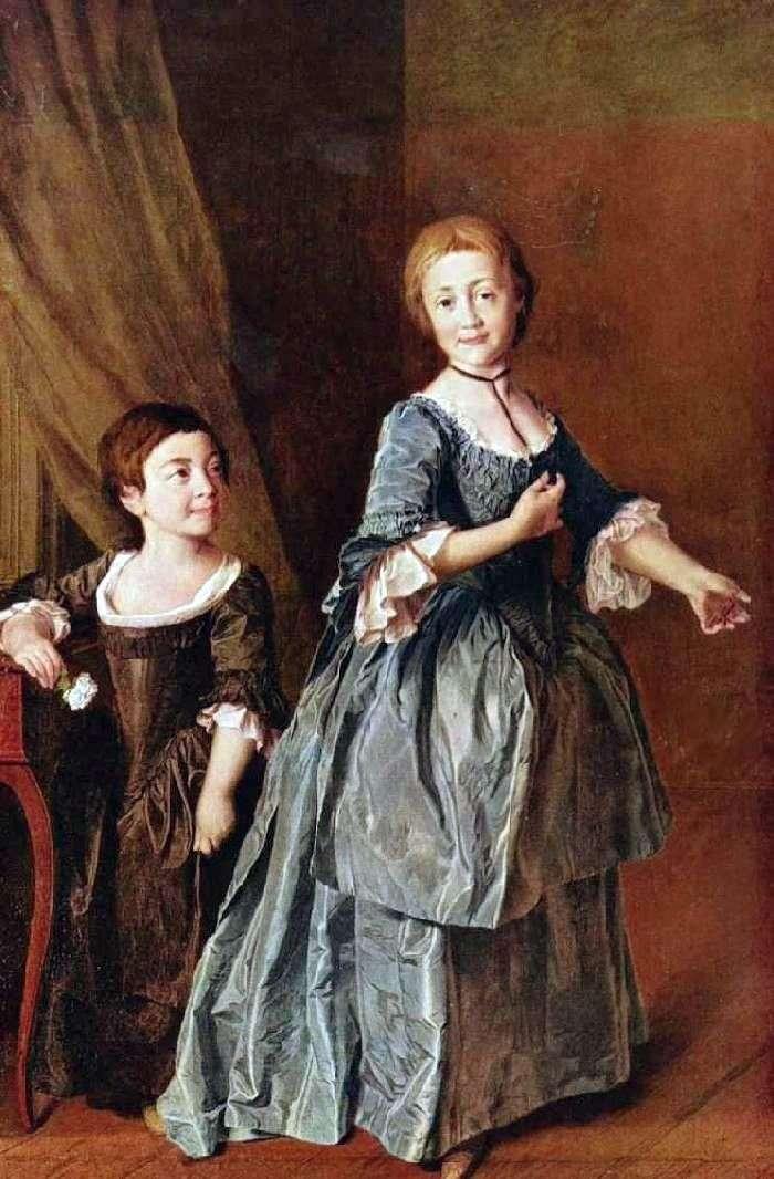 Portret F. S. Rzhevskaya i A. N. Davydova (Smolyanka)   Dmitry Levitsky