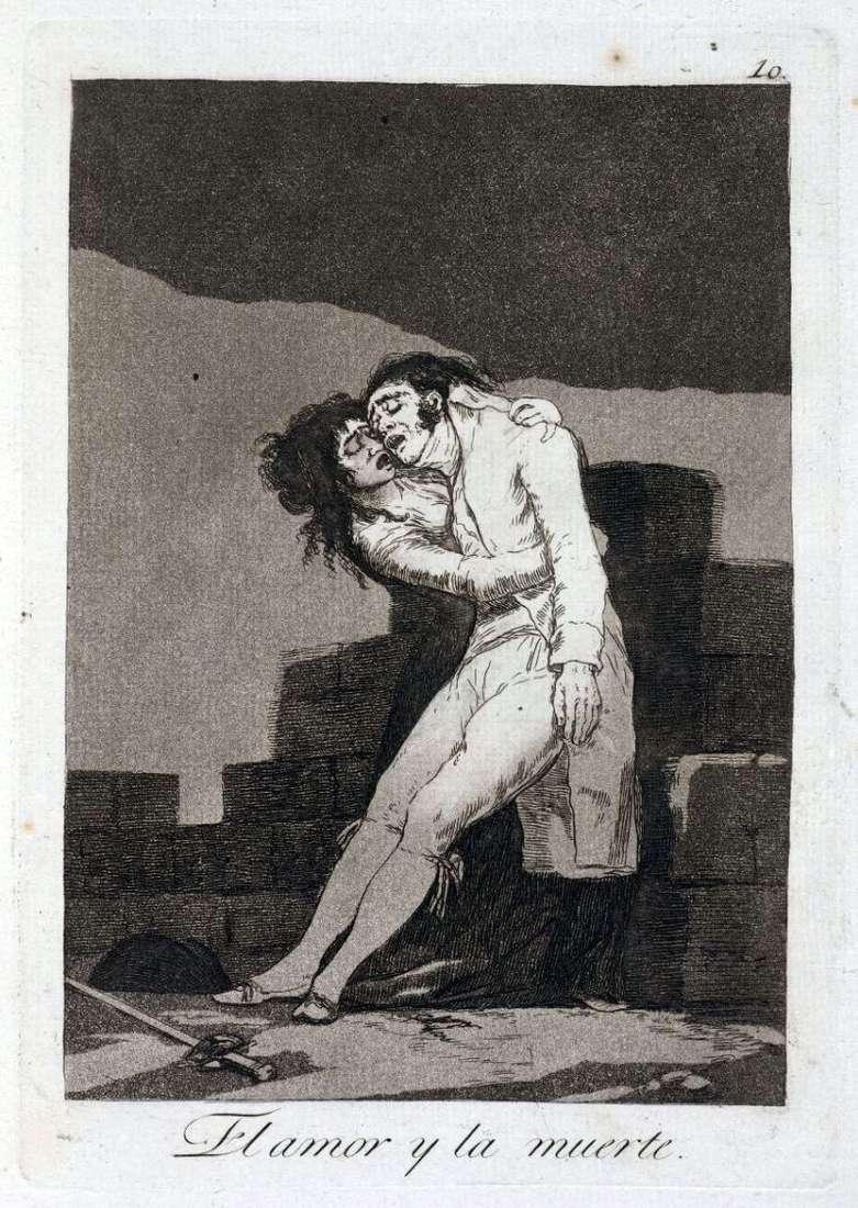 Miłość i śmierć   Francisco de Goya