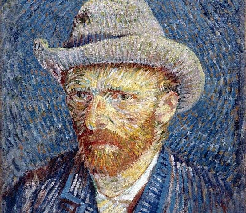 Autoportret w szarym filcu III   Vincent Van Gogh