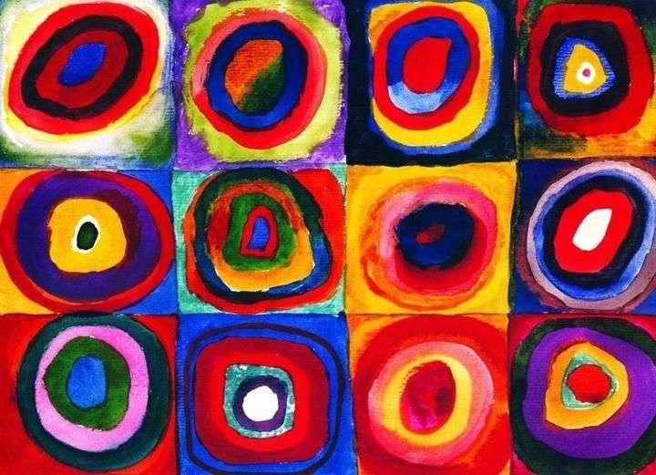 Kwadraty z koncentrycznymi okręgami   Wassily Kandinsky