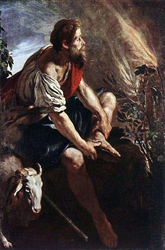 Mojżesz przed płonącym krzakiem   Domenico Fety