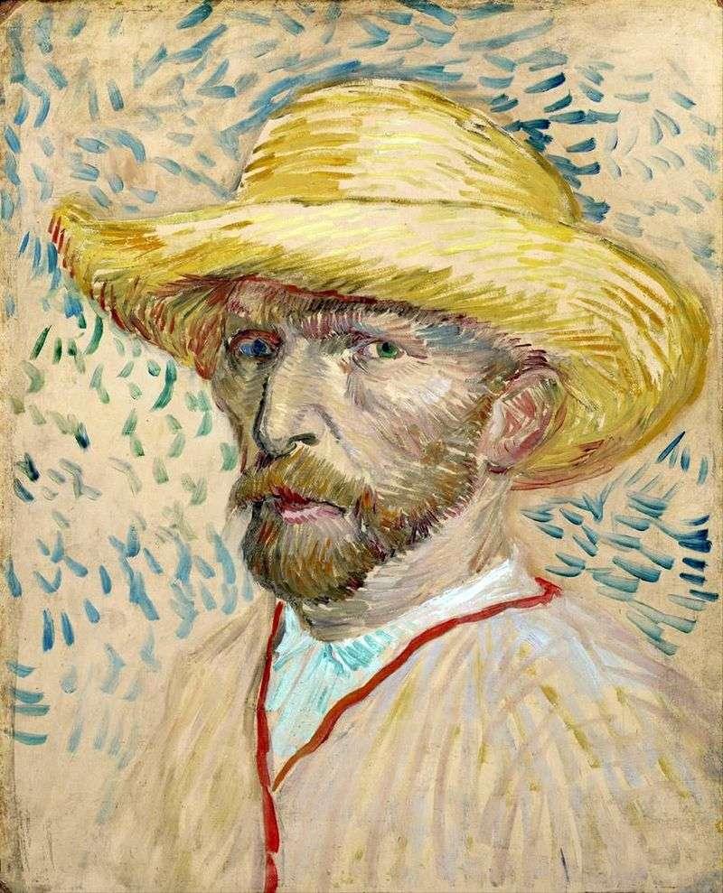 Autoportret w słomkowym kapeluszu II   Vincent Van Gogh