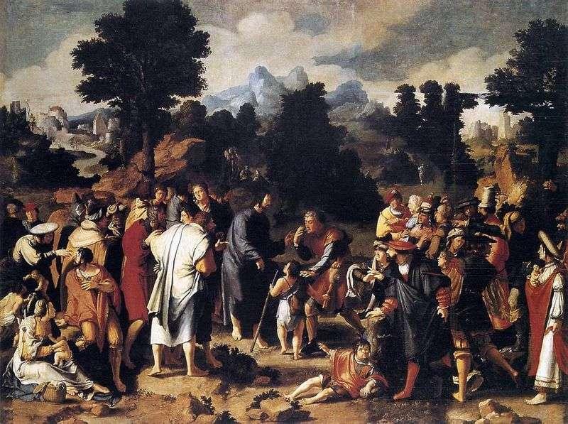 Uzdrowienie z Jerycha Ślepota (Tryptyk)   Lukas van Leiden
