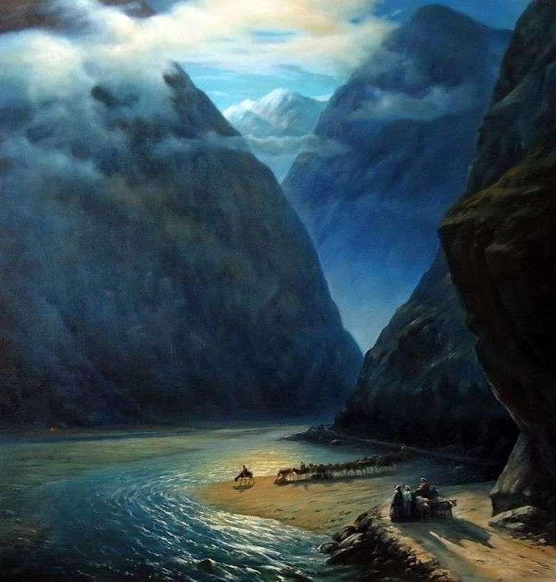 Darial Gorge   Ivan Aivazovsky