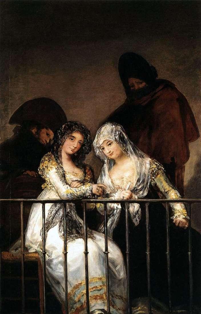 Mahi na balkonie   Francisco de Goya