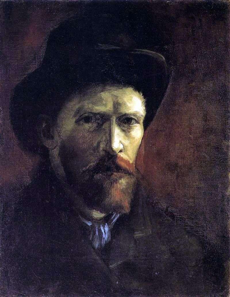 Autoportret w ciemnym filcowym kapeluszu   Vincent Van Gogh