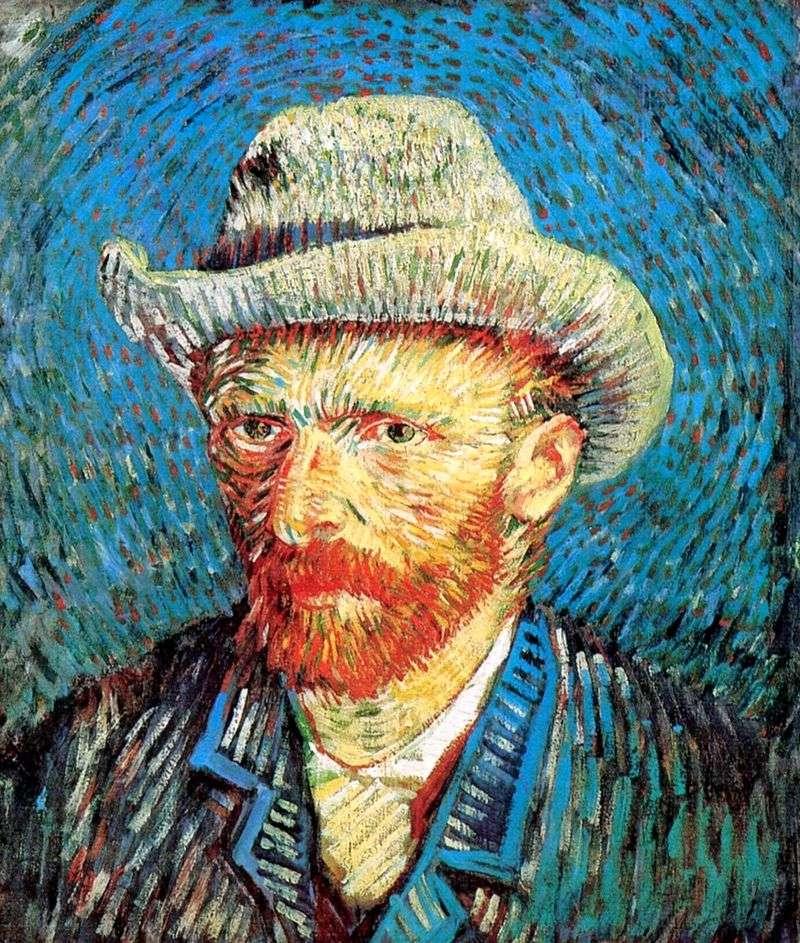 Autoportret w filcowym kapeluszu   Vincent Van Gogh