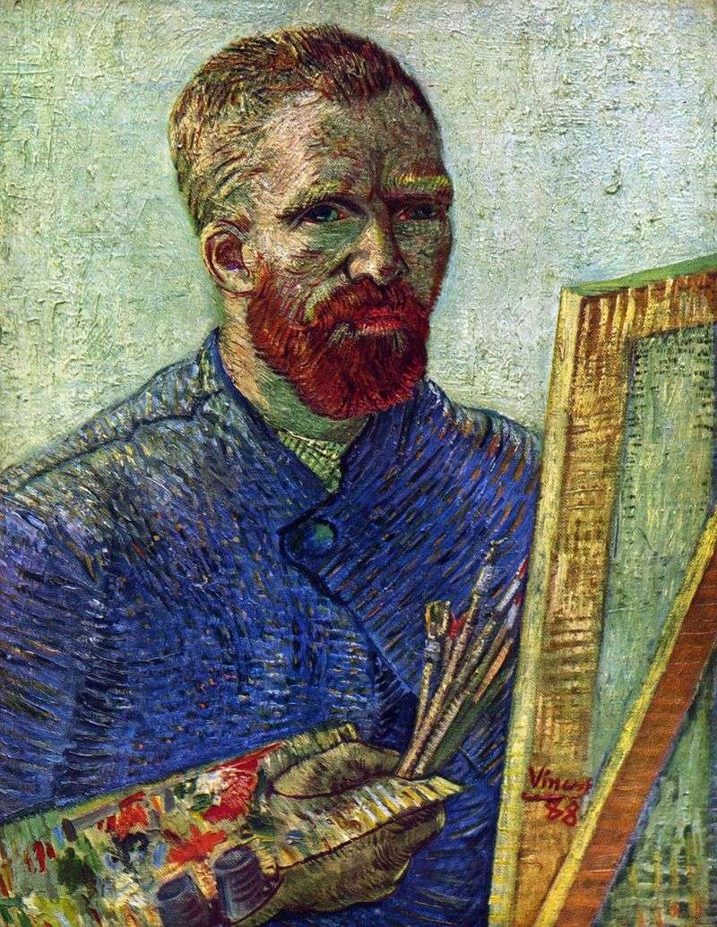 Autoportret przed sztalugą   Vincent Van Gogh