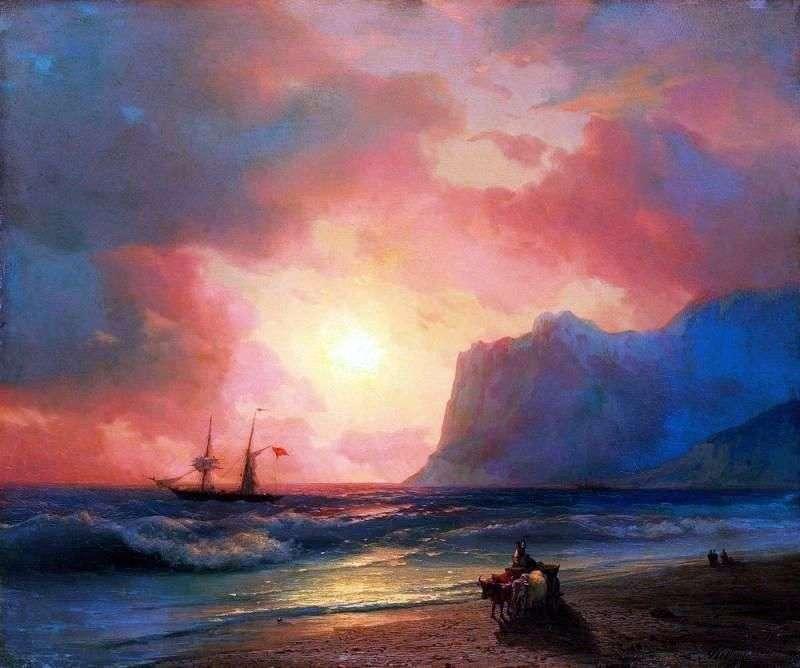 Zachód słońca nad morzem   Ivan Aivazovsky