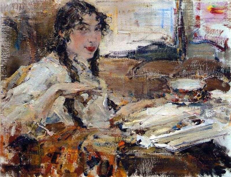Portret T. A. Popova   Nikolay Feshin