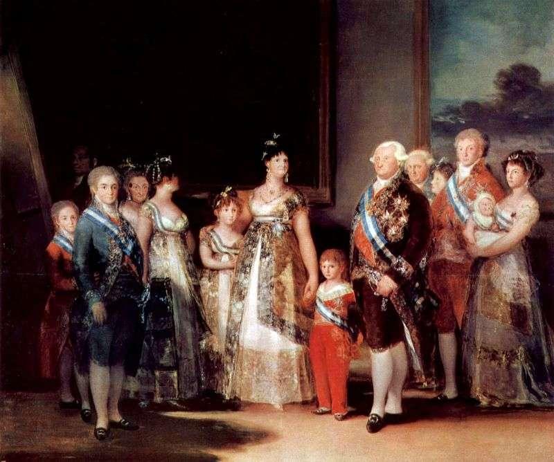 Portret rodziny Karola IV   Francisco de Goya