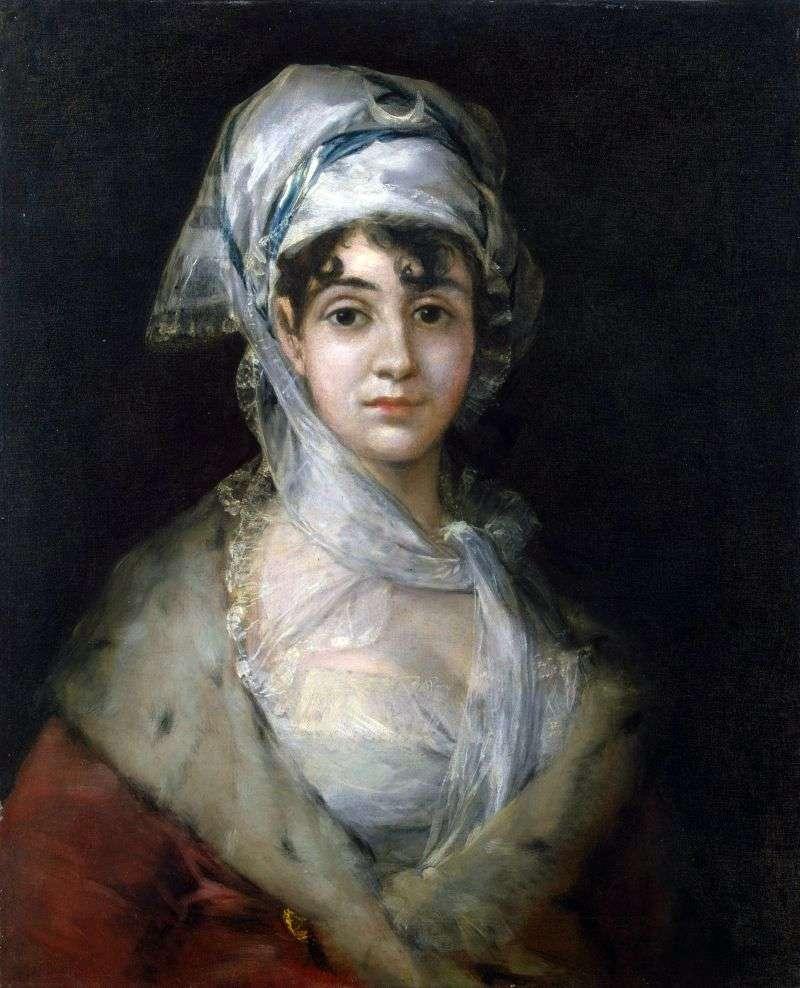Portret aktorki Antonia Zarate   Francisco de Goya