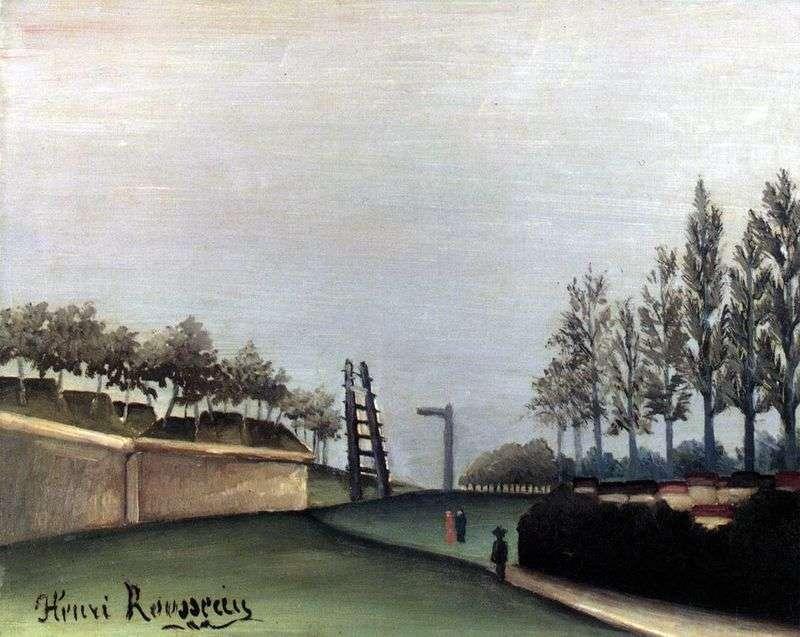Widok na Paryż z bramy miejskiej Van   Henri Rousseau