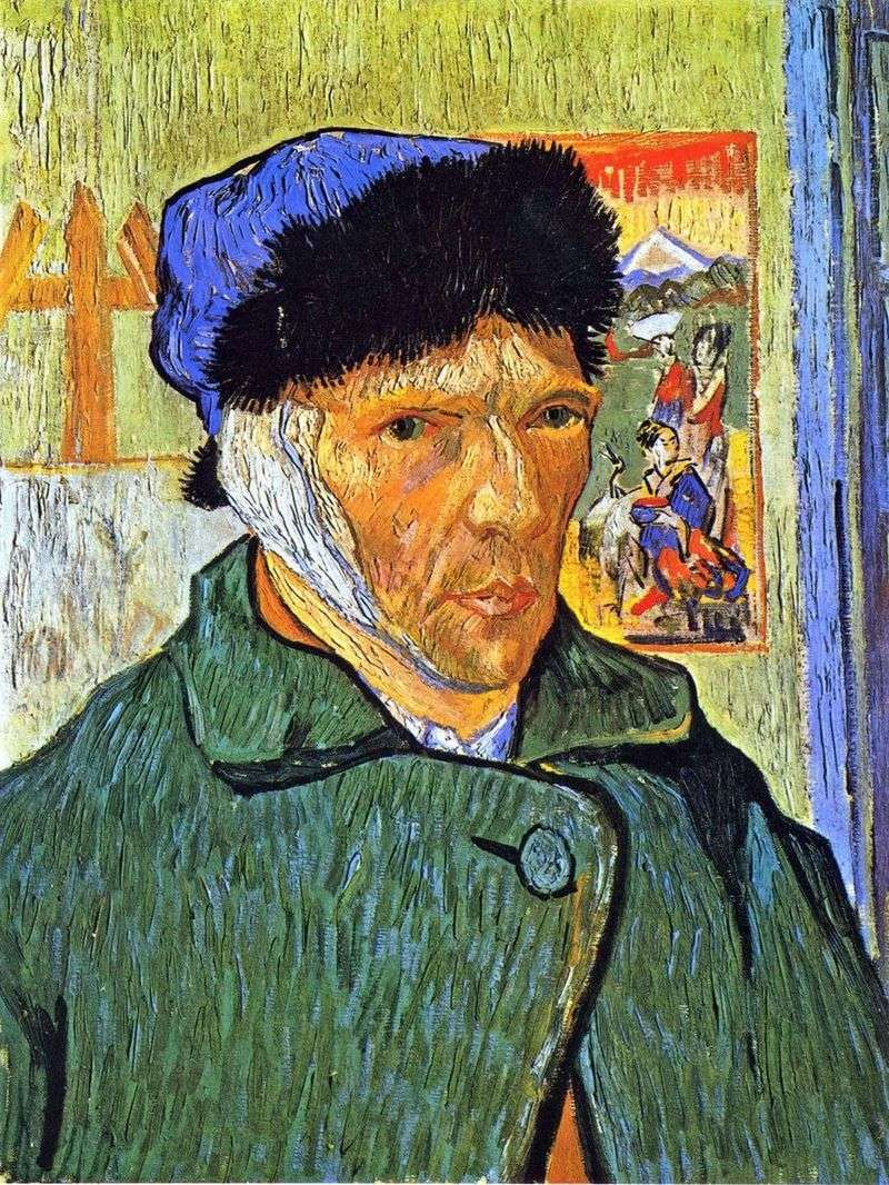 Autoportret z obandażowanym uchem   Vincent Van Gogh