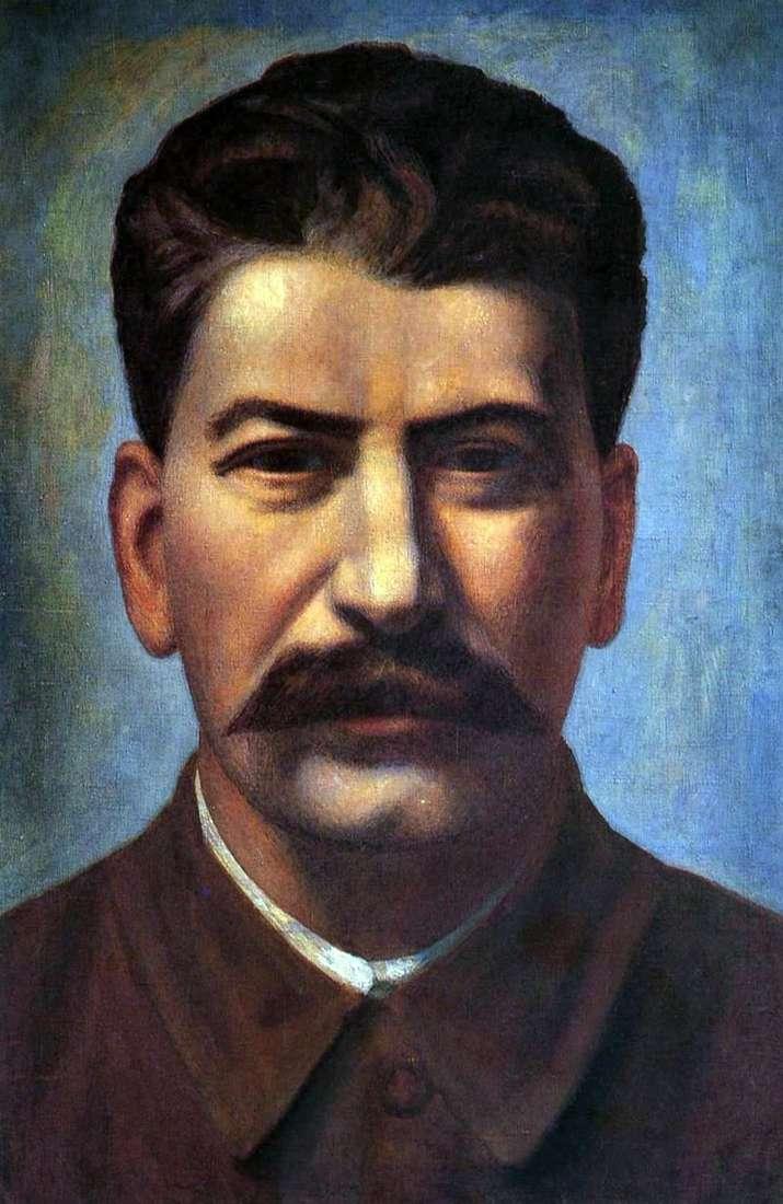 Portret Józefa Stalina   Pavel Filonov