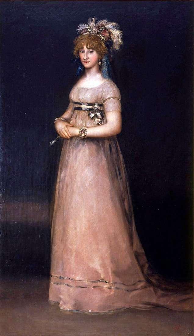 Portret hrabiny de Chinchon   Francisco de Goya