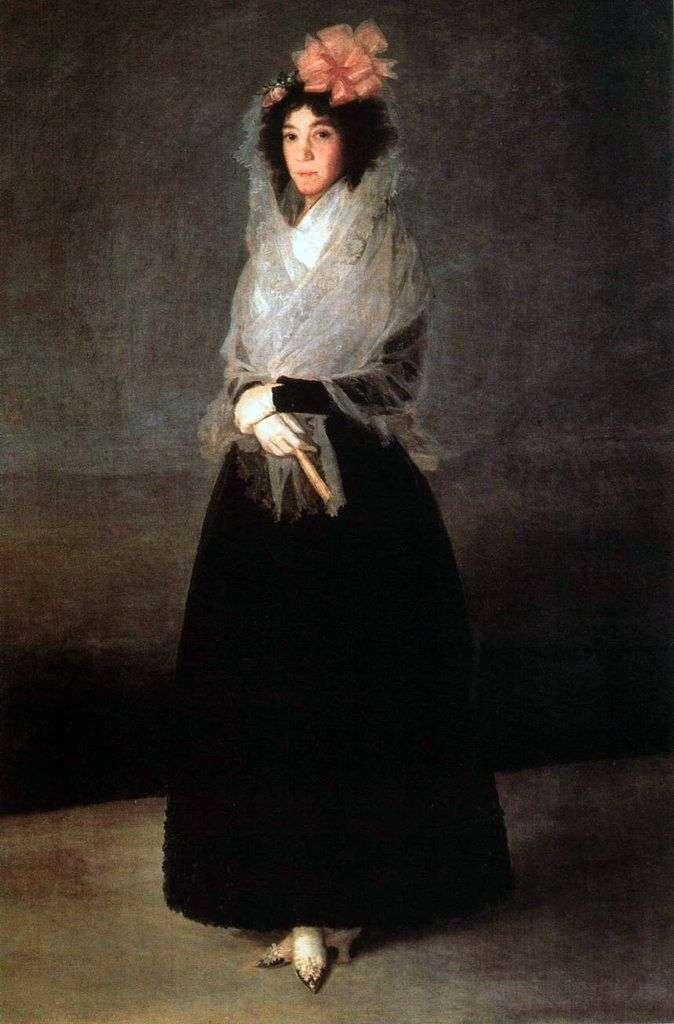Portret hr. Carpio, Marquise de la Solana   Francisco de Goya