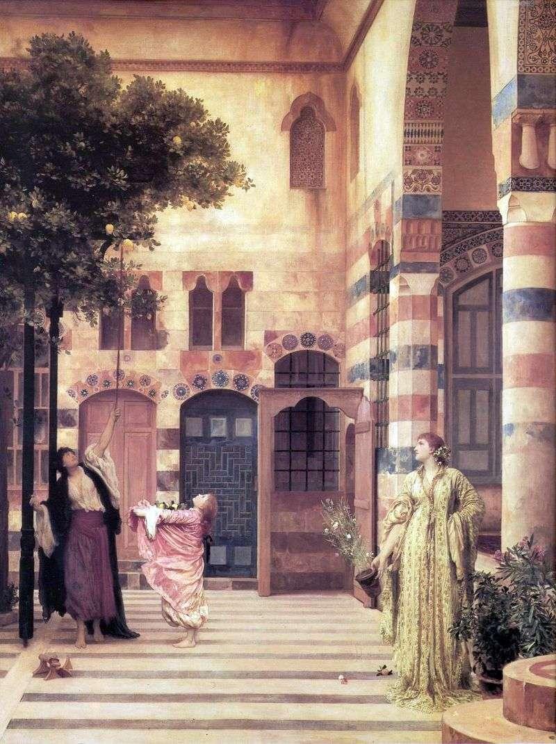 Dzielnica żydowska w Damaszku   Frederick Leighton