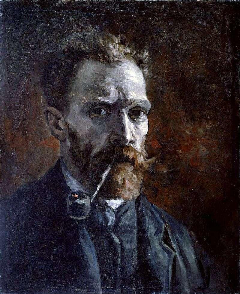 Autoportret z tubą   Vincent Van Gogh