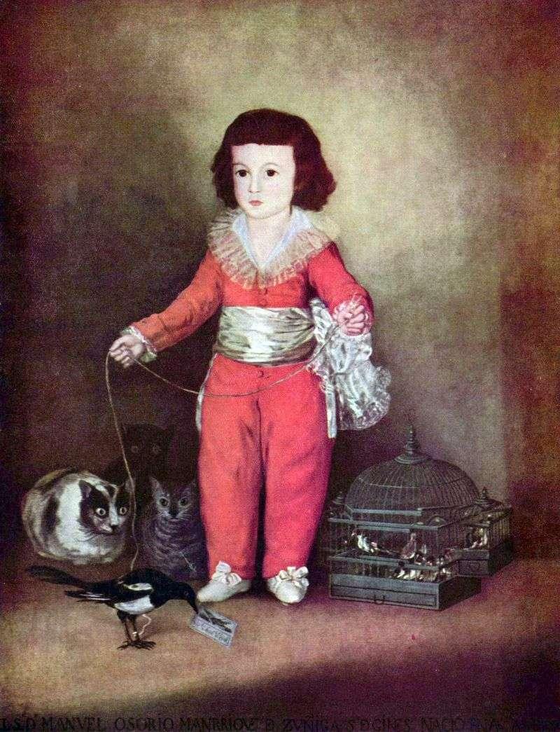 Portret Don Manuel Osorio i Zunig Francesco de Goya