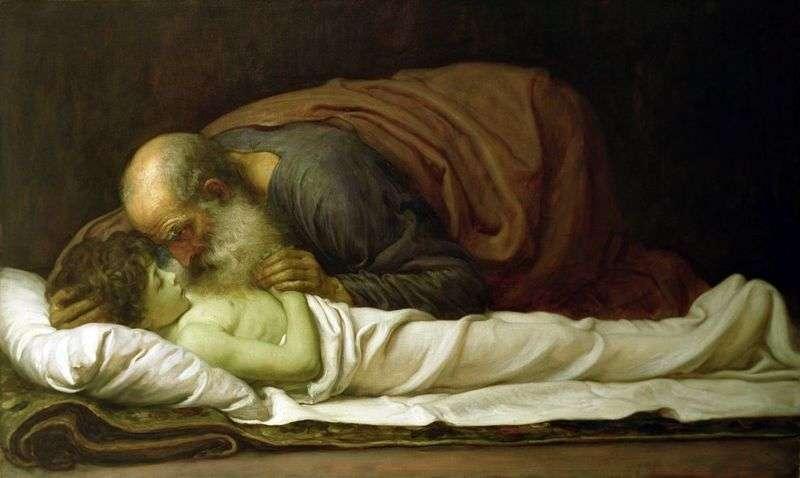 Elizeusz, zmartwychwstanie syna Sunnimana   Fredericka Leightona
