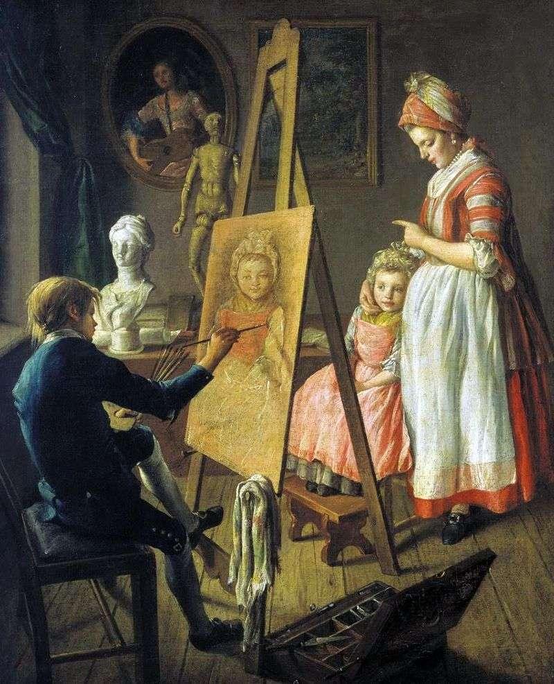 Młody malarz   Iwan Firsov