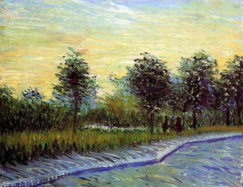 Aleja w Parc dArgenson w Anyier   Vincent van Gogh
