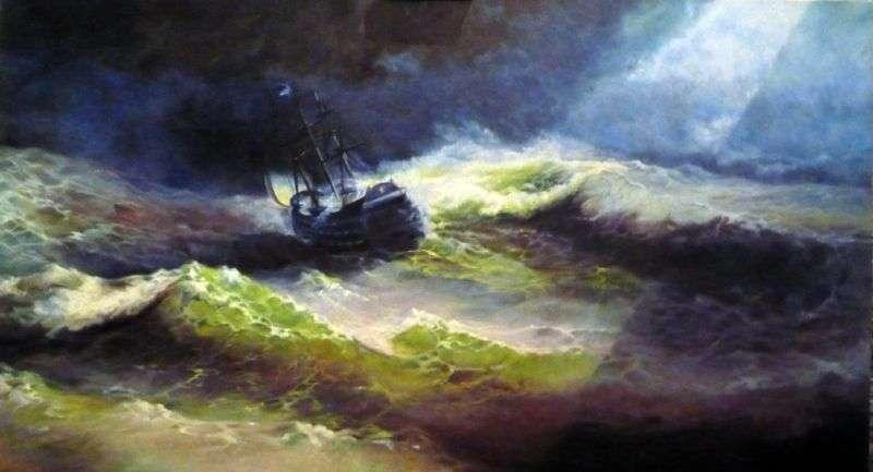 Statek Empress Maria podczas burzy   Ivan Aivazovsky