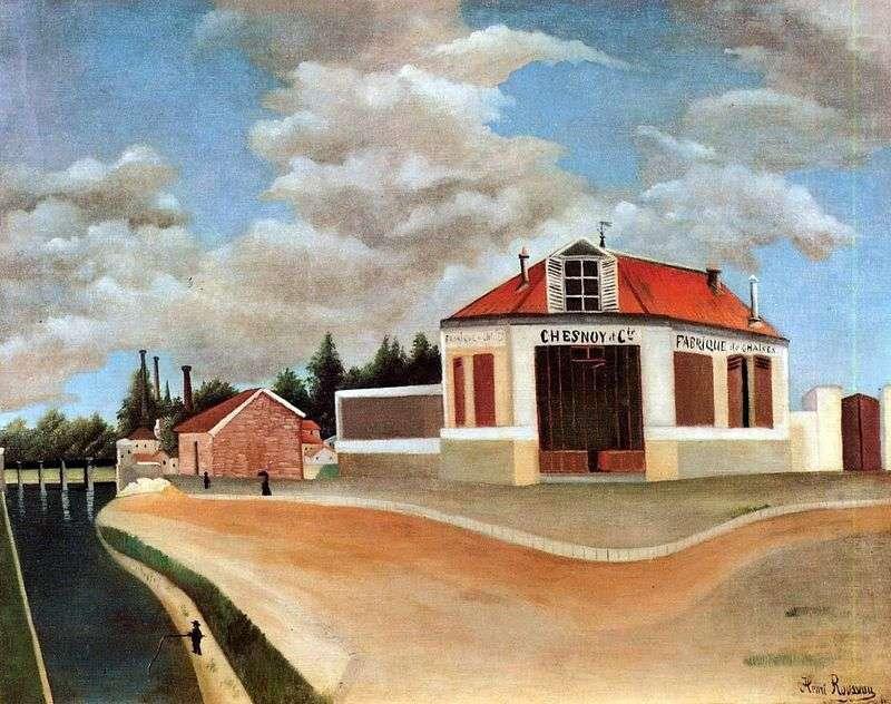 Fabryka mebli w Alfortville   Henri Rousseau