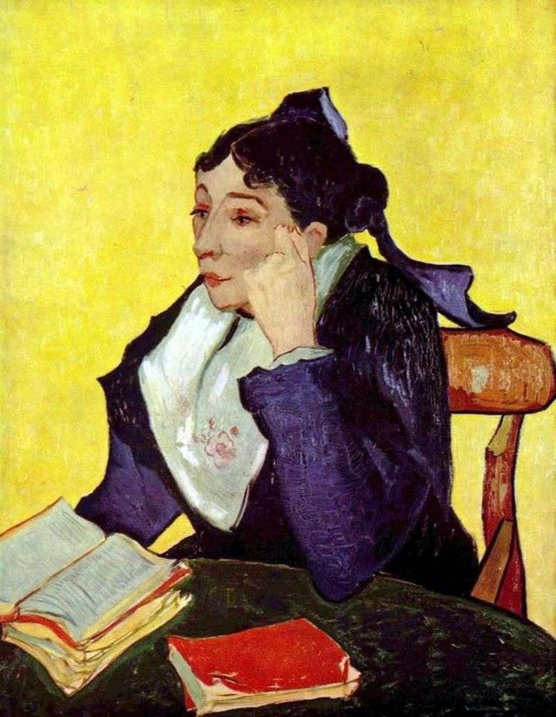 Arlesianka: Madame Zhinu z książkami   Vincent Van Gogh