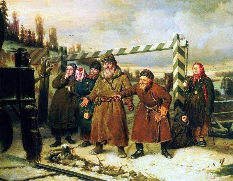 Scena kolejowa   Wasilij Perow