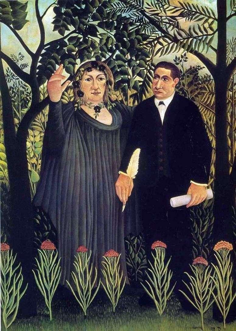 Muza inspirująca Poetę   Henri Rousseau