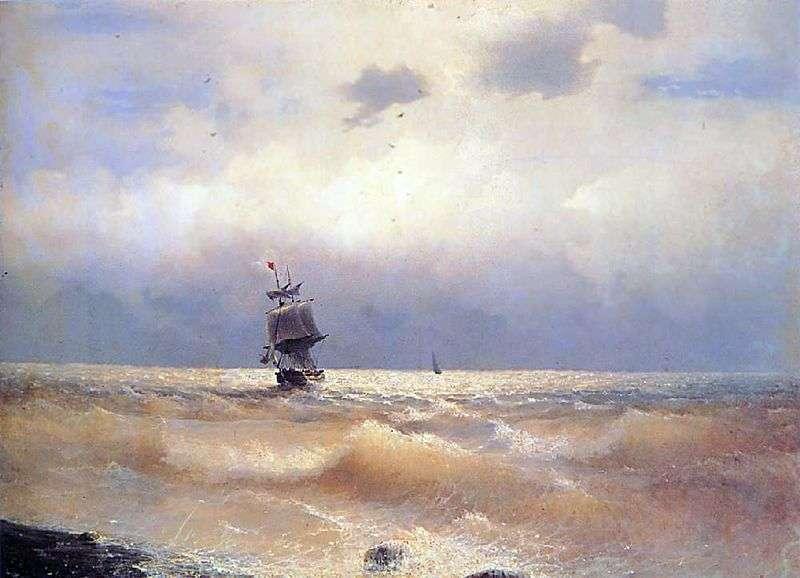 Statek na wybrzeżu   Ivan Aivazovsky