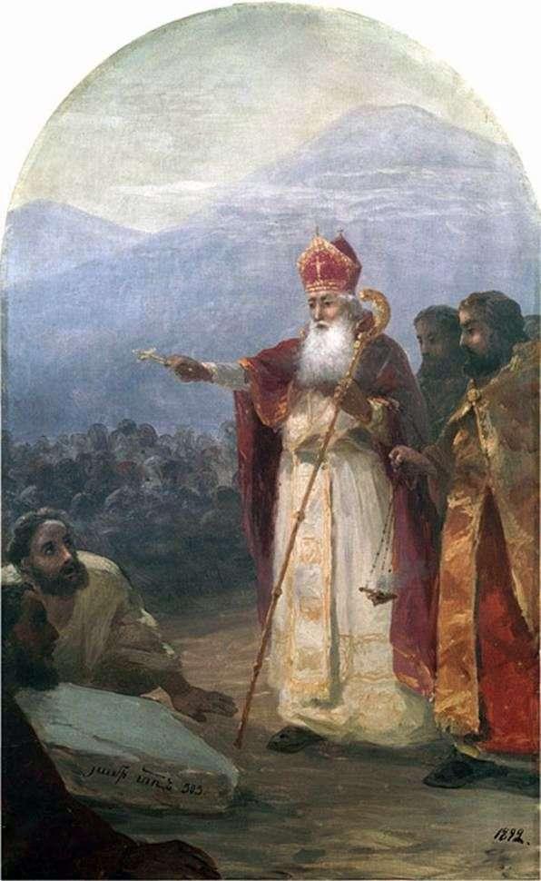 Chrzest narodu ormiańskiego. Gregory the Illuminator   Ivan Aivazovsky