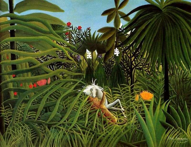 Atak Jaguara na konia   Henri Rousseau