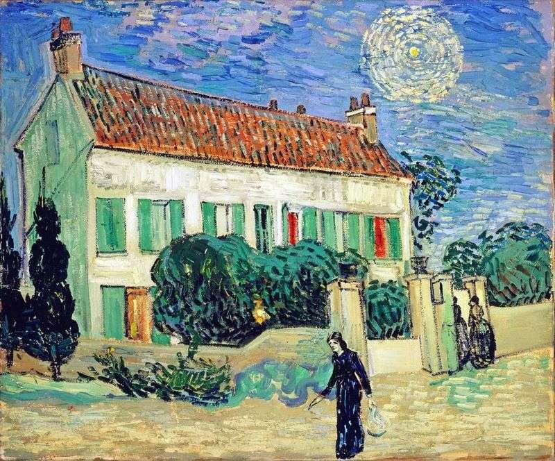 Biały dom w nocy   Vincent Van Gogh
