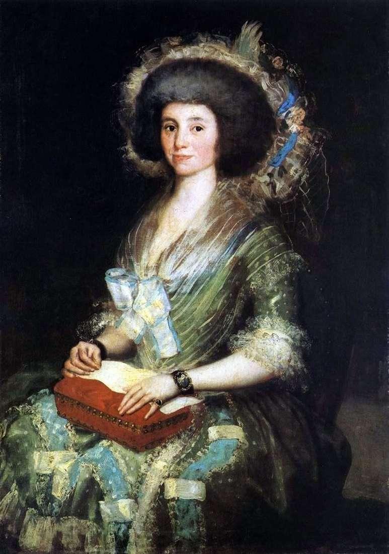 Portret Señora de Sean Bermudez   Francisco de Goya
