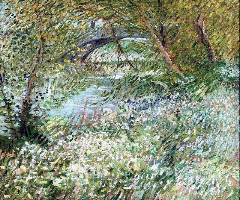Brzeg Sekwany w Pont de Clichy na wiosnę   Vincent Van Gogh