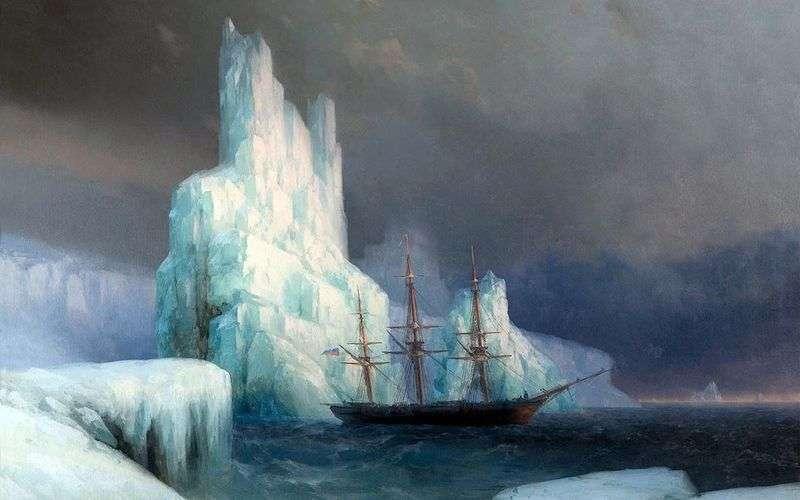 Lodowe Góry na Antarktydzie   Iwan Ajwazowski