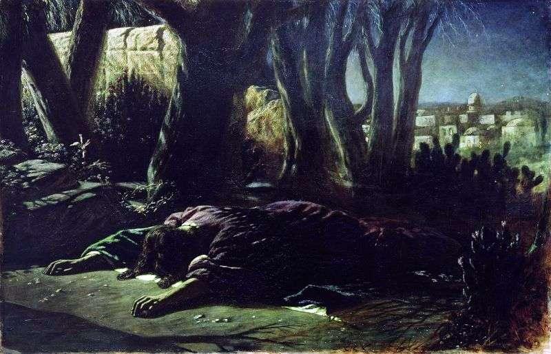 Chrystus w ogrodzie Getsemani   Wasilij Perow